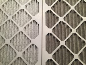 Clean air filter vs. dirty air filter